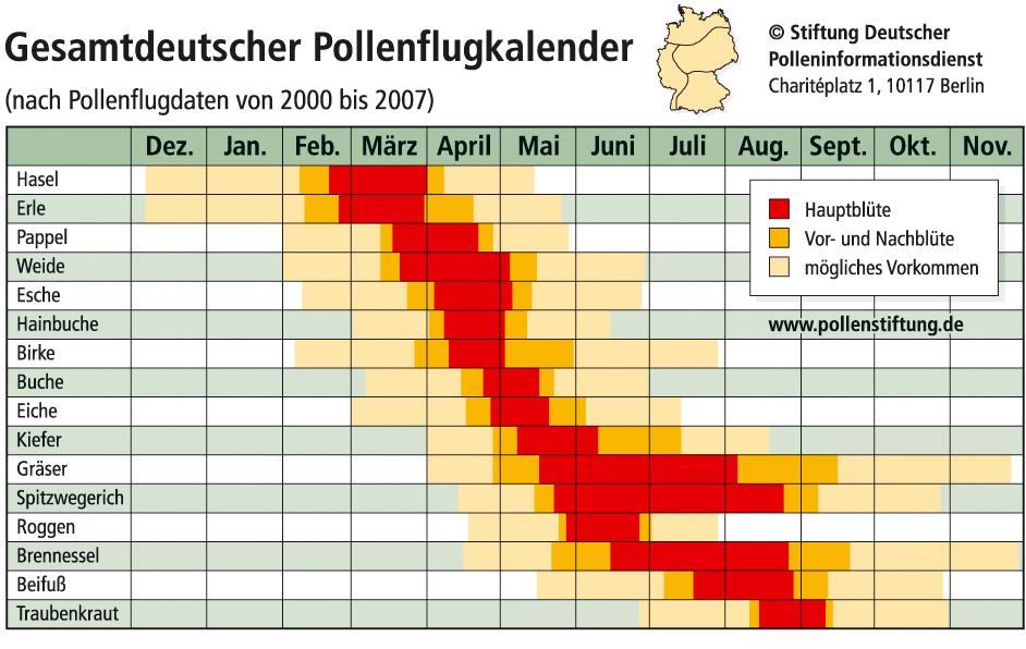 Pollenflugkalender Aktuell