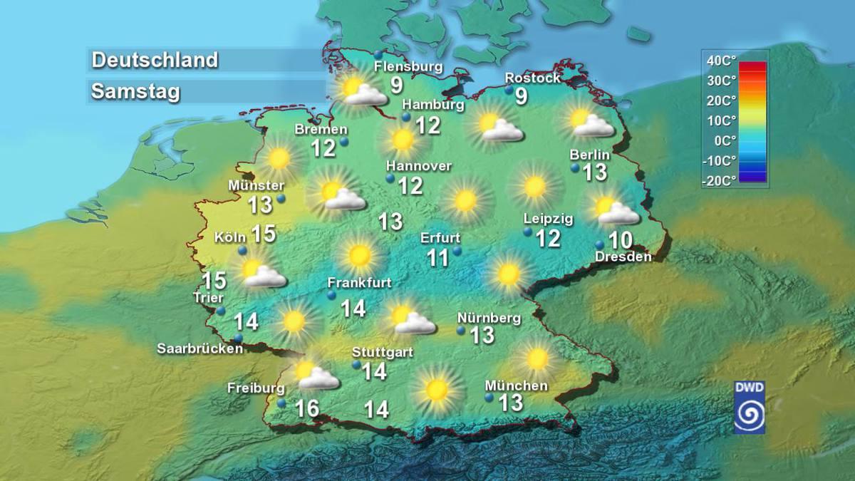 Deutschland Wetterkarte