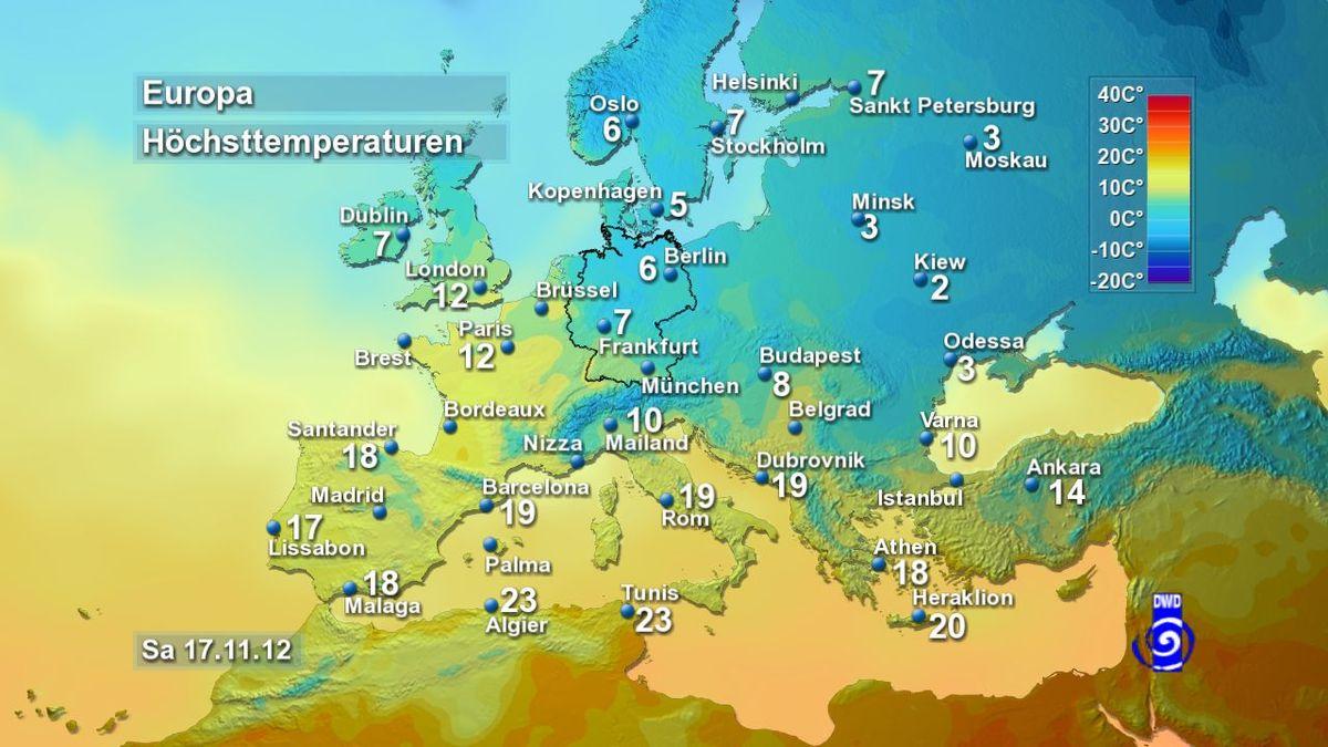 Europa Wetterkarte