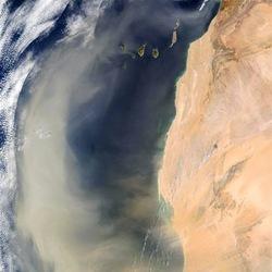 Saharastaub Aktuell