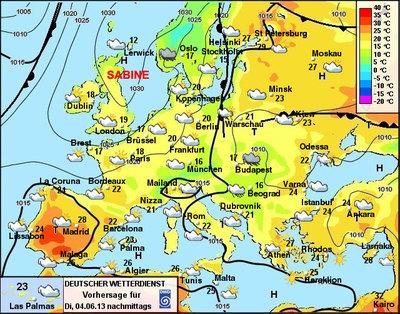 Wetterkarte Heute