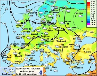 Europa wetter für sonntag 14 10 2012