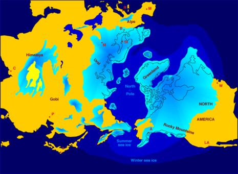 Vereisung der Nordhalbkugel während der letzten Kaltzeit