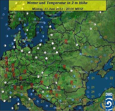 Der heutige EM-Tag bringt in der östlichen Ukraine schweißtreibende Temperaturen und Sonnenschein.