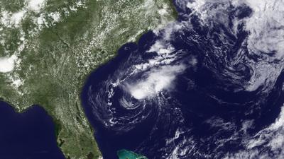 Tropensturm Alberto im Satellitenbild