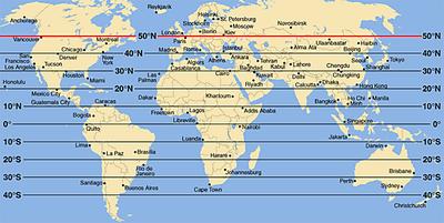 Das osterwetter eine reise entlang des 50 breitengrades