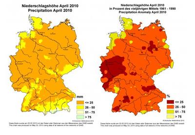 Niederschlagsmenge April 2010