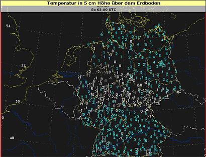 In der Mitte und im Westen Deutschlands hat es gebietsweise leichten Bodenfrost gegeben