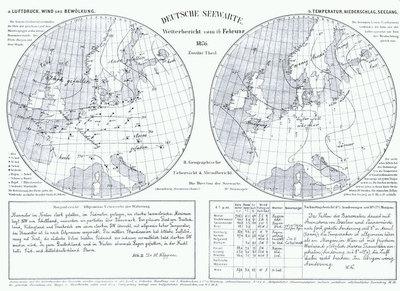 Die erste Wetterkarte