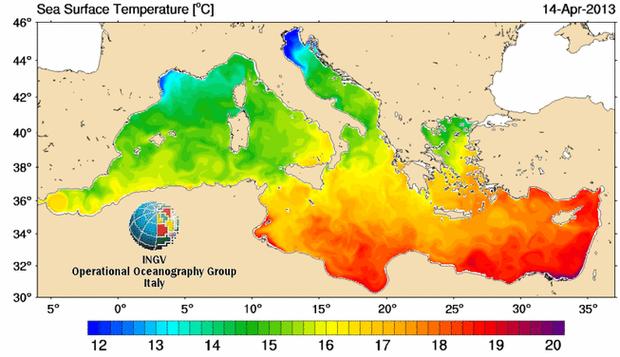 Wassertemperatur Mittelmeer
